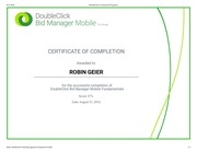doubleclick certification programs mobile dbm