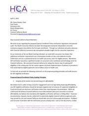 hca letter to covered ca board