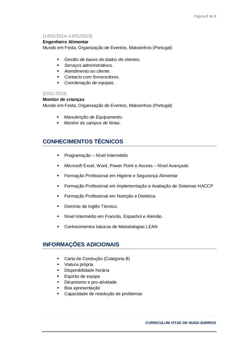 Curriculum Vitae Template By Hugo Cvs Pdf Pdf Archive