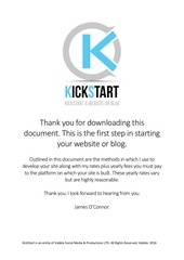 kickstart your website information and form