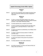 atc hosa bylaws