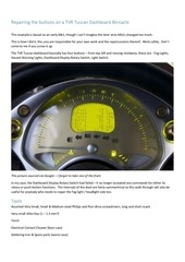 PDF Document repairing the buttons on a tvr tuscan dashboard binnacle