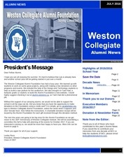 wci alumni newsletter 2016