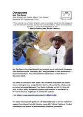 press release not the bees octopuses october 2016