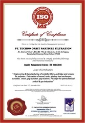 468 certificate of compliance 9k for pt top filtration