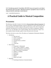 alan berklin a practical guide to musical composition
