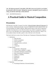 PDF Document alan berklin a practical guide to musical composition