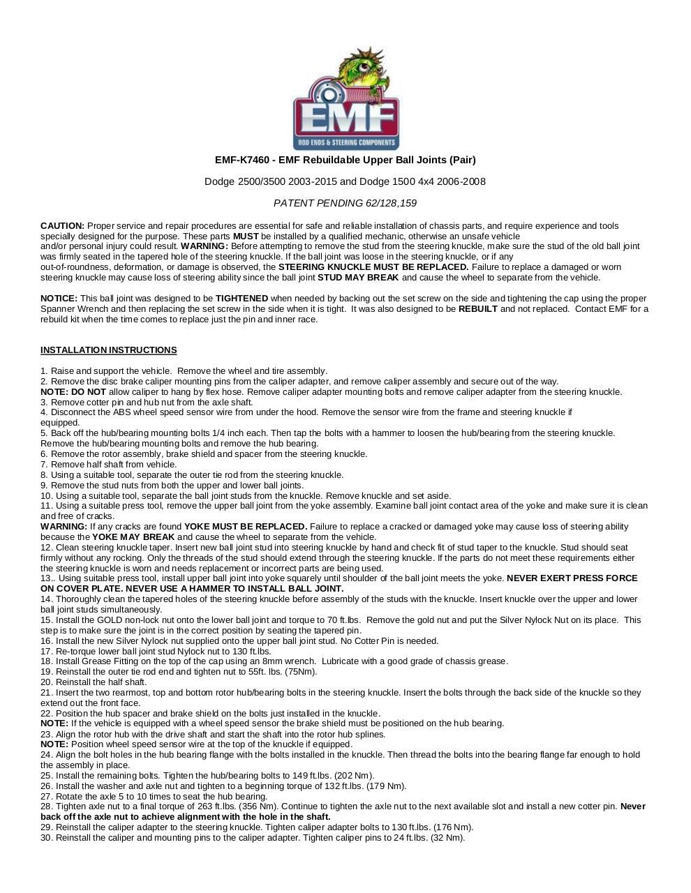 Document preview EMF-Upper-BallJoint-Installation-Directions.pdf - page 1/2