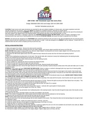 emf upper balljoint installation directions