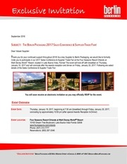 2017 sales conference detailed invitation letter