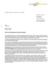 offener brief rettung hotel stadt leipzig