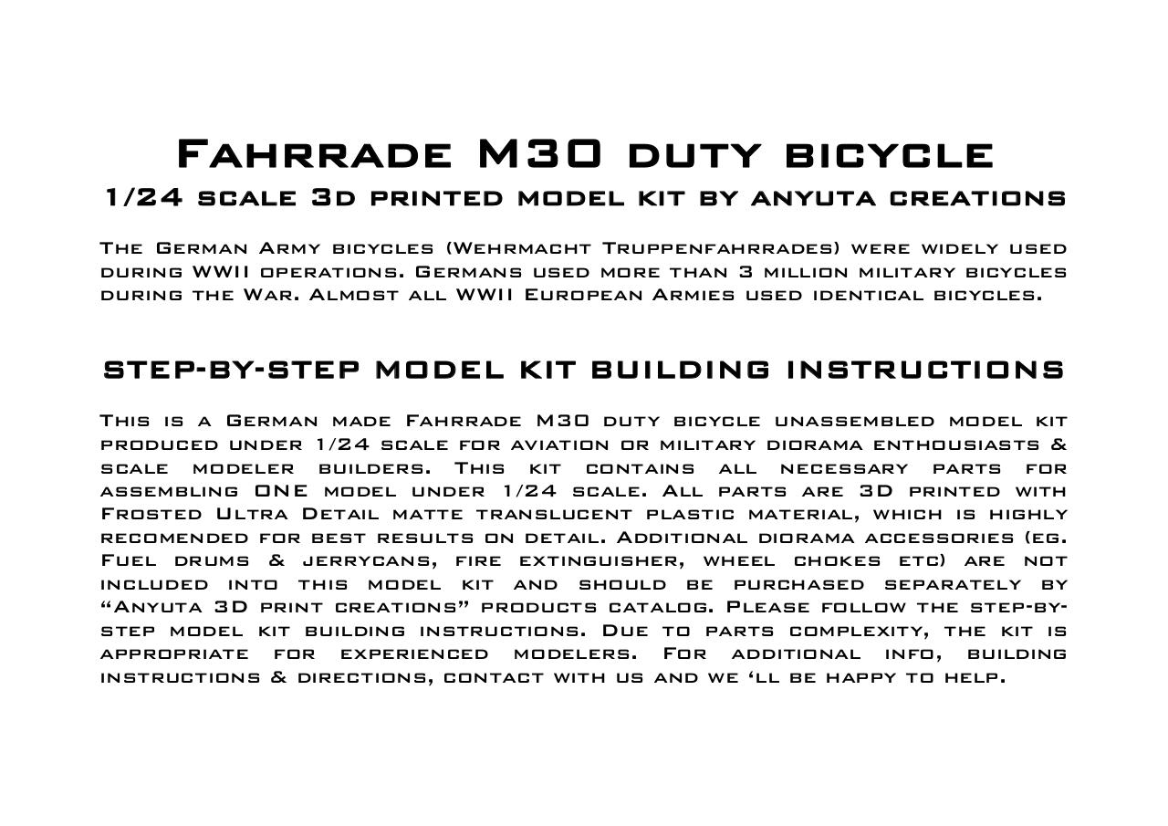 1-24 Bicycle M30 Wehrmacht kit LATE instructions HR.pdf - page 3/9