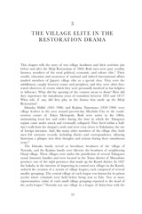 the village elite in the meiji restoration drama steele