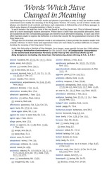 kjv words which have changed in meaning