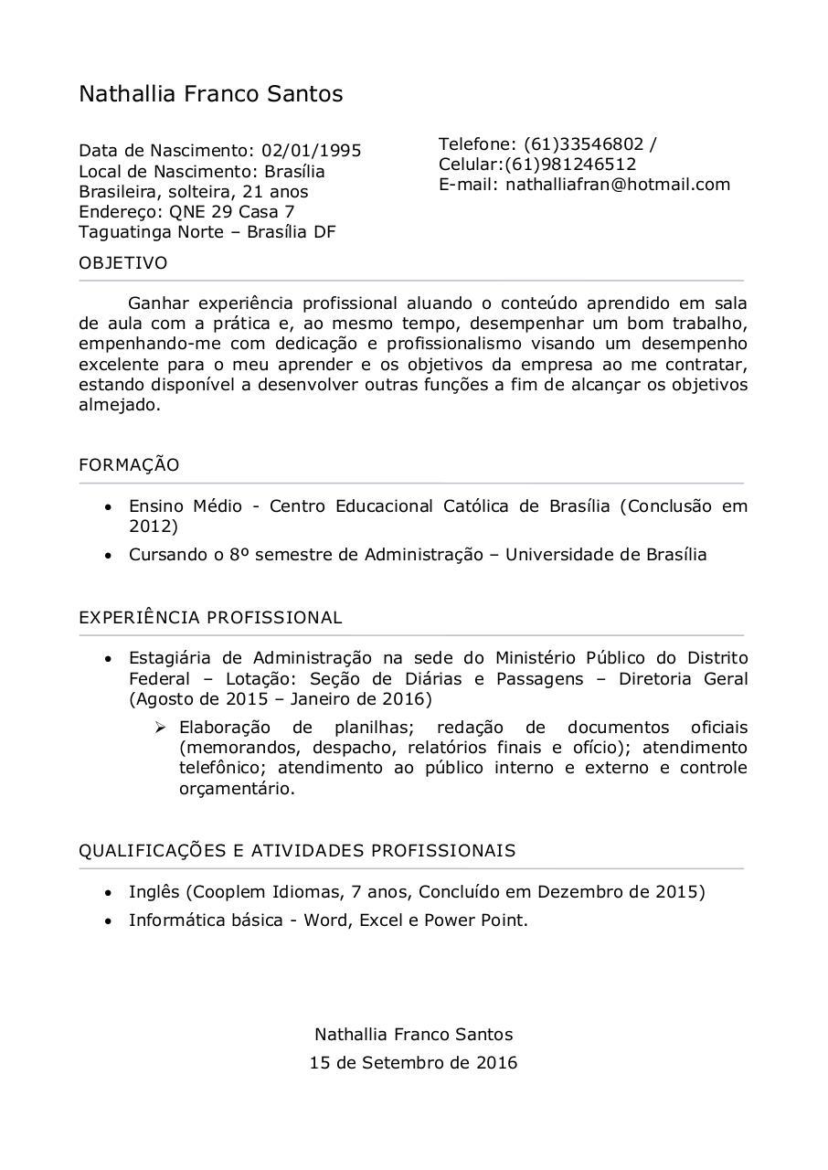 Nathallia Curriculum Vitae By Usuario Pdf Archive