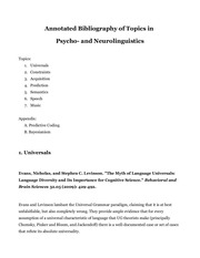 psycho and neurolinguistics