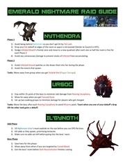 emerald nightmare guide