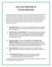 guia para plan de mercadeo