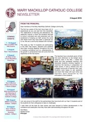 newsletter 9 2nd august 2016 1
