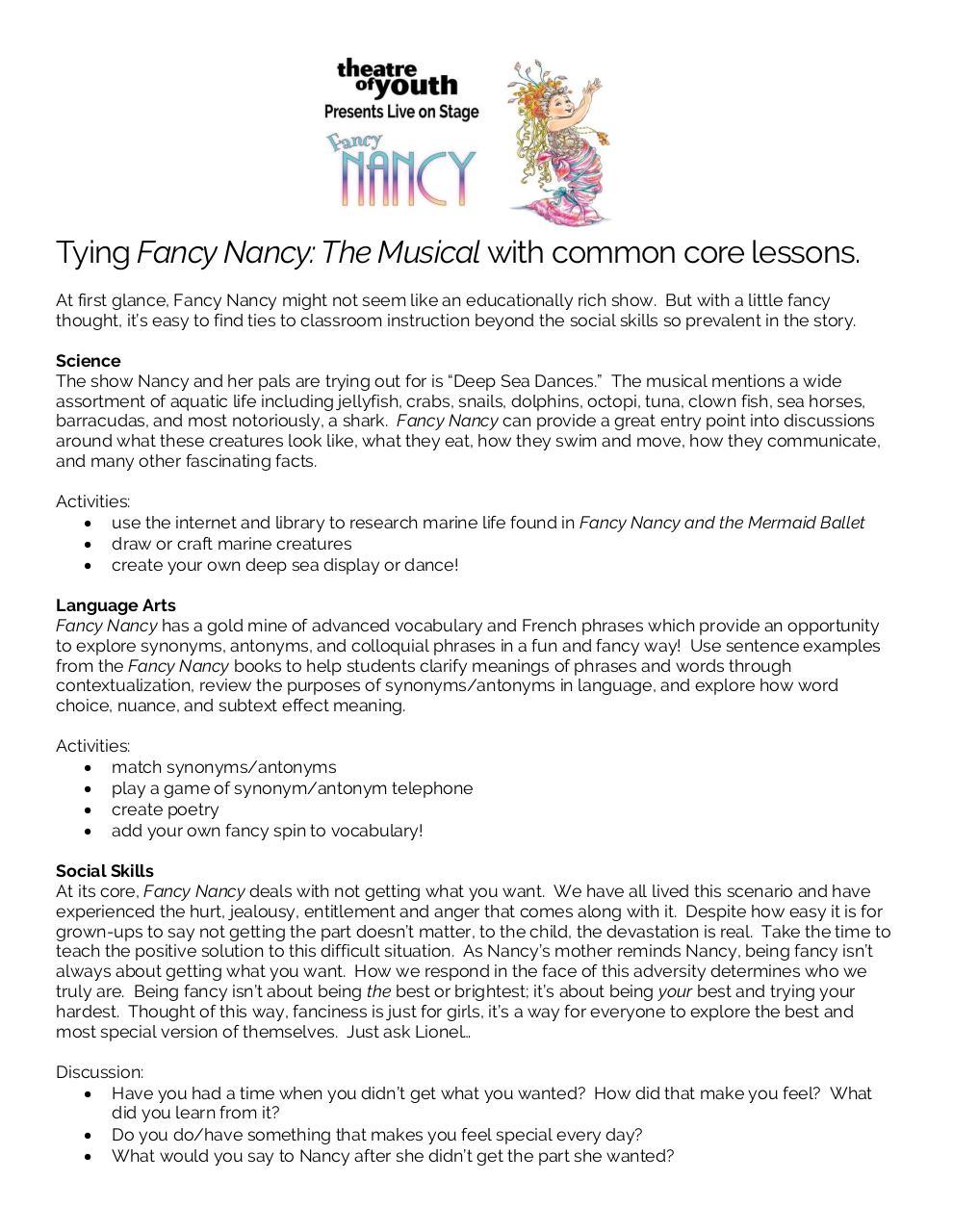 Fancy Nancy Education by Kevin Leary - PDF Archive