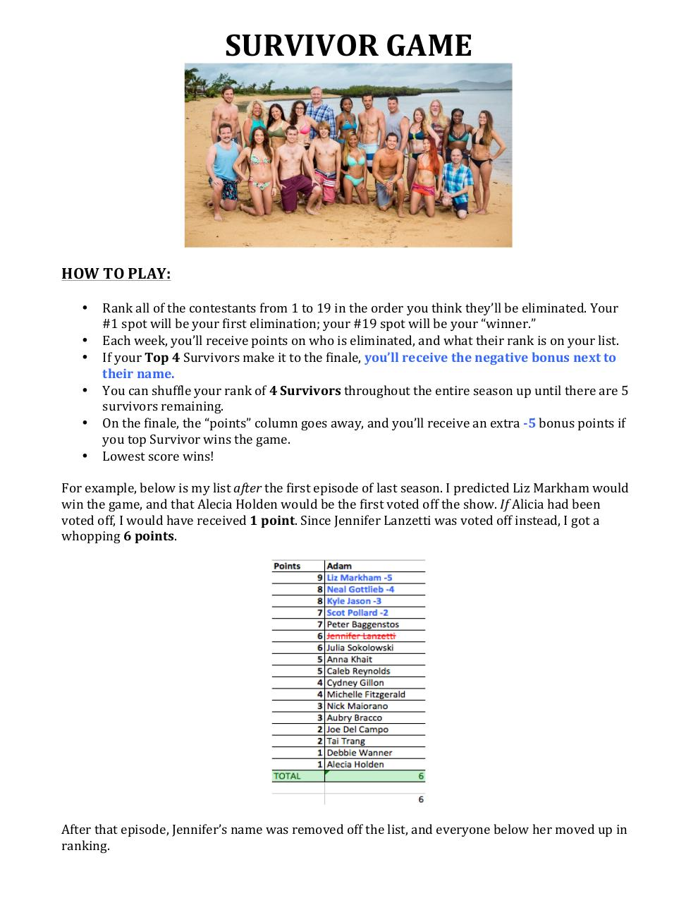Document preview Survivor 33.pdf - page 1/2
