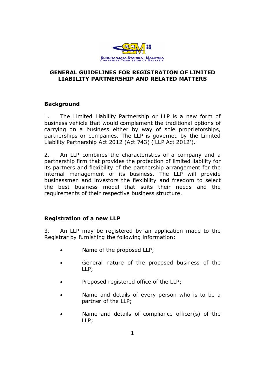 1.1.11 General Guidelines on registration LLP.pdf - page 1/7