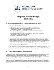 proposed annual budget 2015 2016