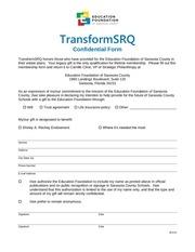 transformsrq form