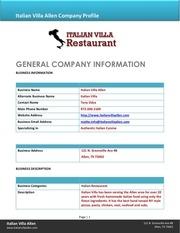 italian villa company bio