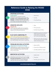 reference guide to raising the wood child