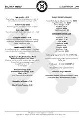 bandit new brunch menu