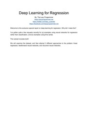 deeplearningforregression