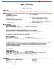eric comeaux resume