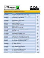 hks liste de prix 1