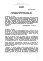 offene antwort an fatih akin 12 12 2014