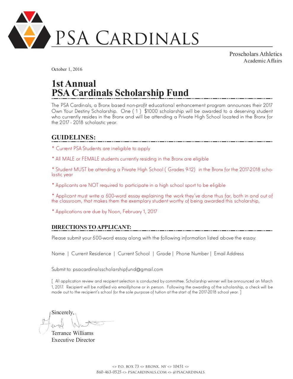 psa scholarship announcement psa scholarship announcement report spam or adult content