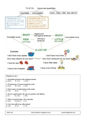 noun and quantifiers