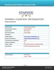 starside builders company bio