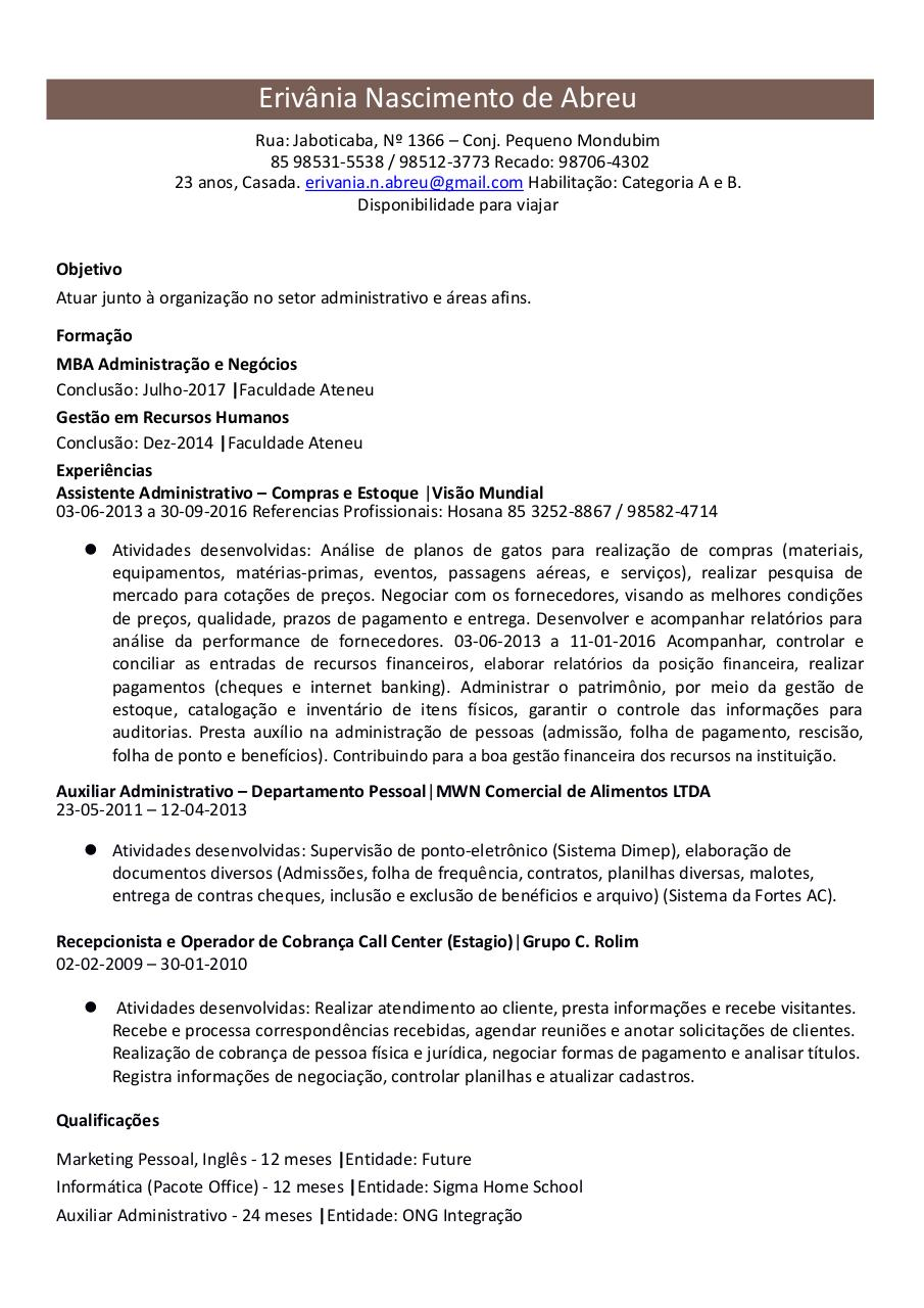 Document preview Currículo Erivania.pdf - page 1/1