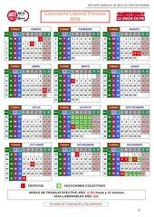 hojas 9 y 10 calendario prensas
