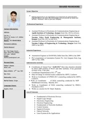 resume for industry 22