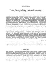 zasta polsk ludow a zostawi narodow