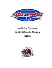 license plate instructions sns 5b 2010 2012 shelby mustang