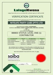 bee certificate nitelife party cabs