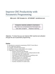 improve cnc productivity with parametric programming