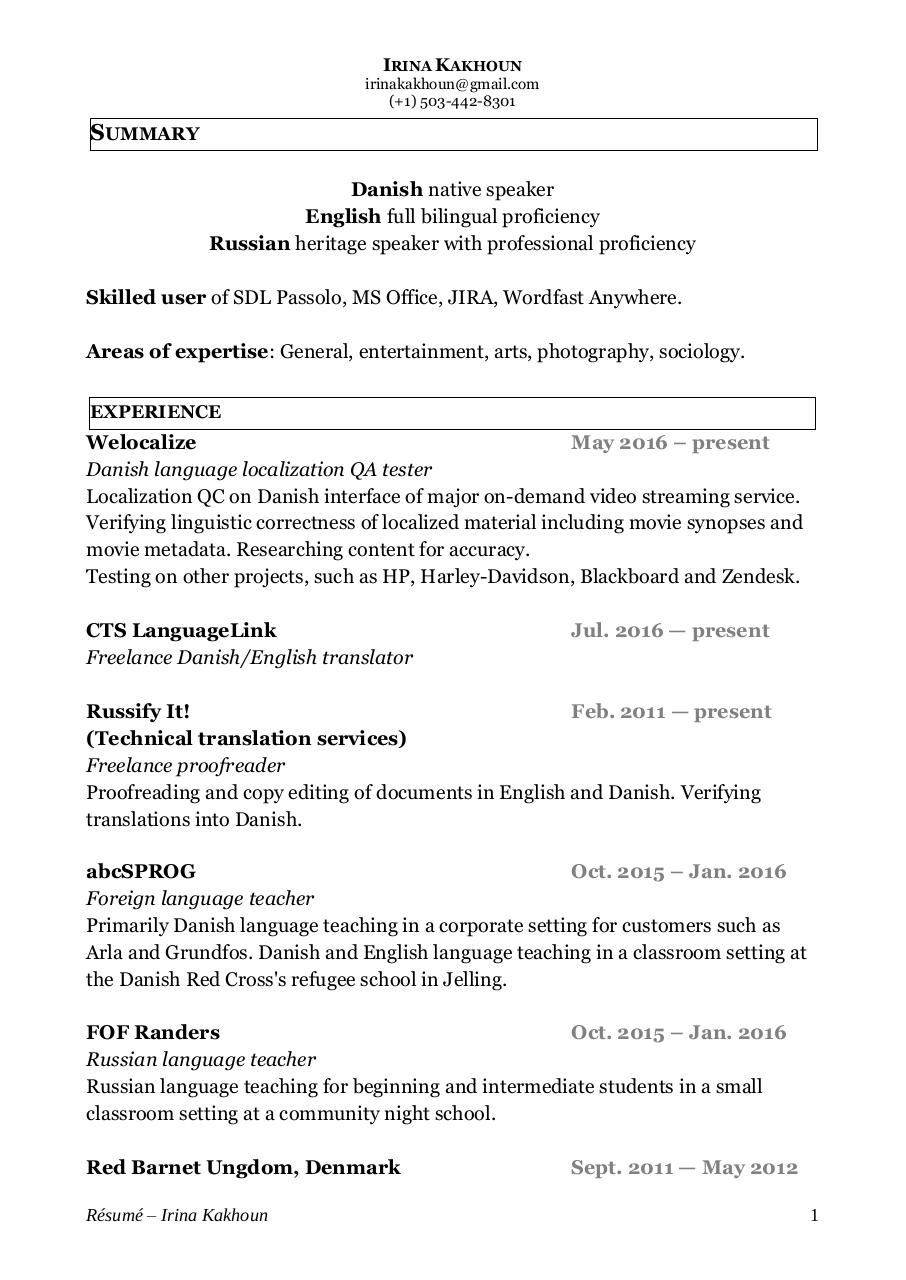 Document preview IrinaKakhounTranslatorResume2.pdf - page 1/2