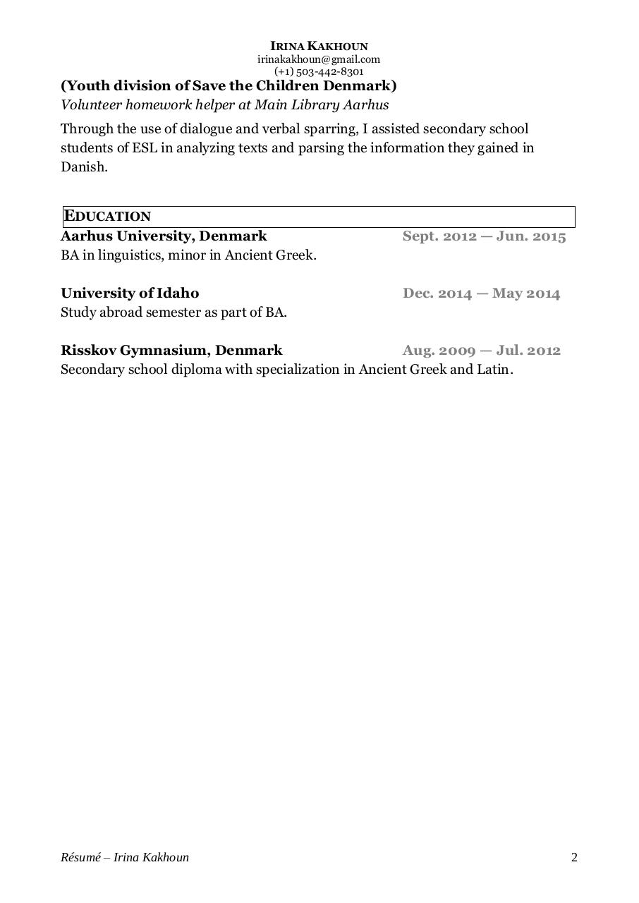 Document preview IrinaKakhounTranslatorResume2.pdf - page 2/2