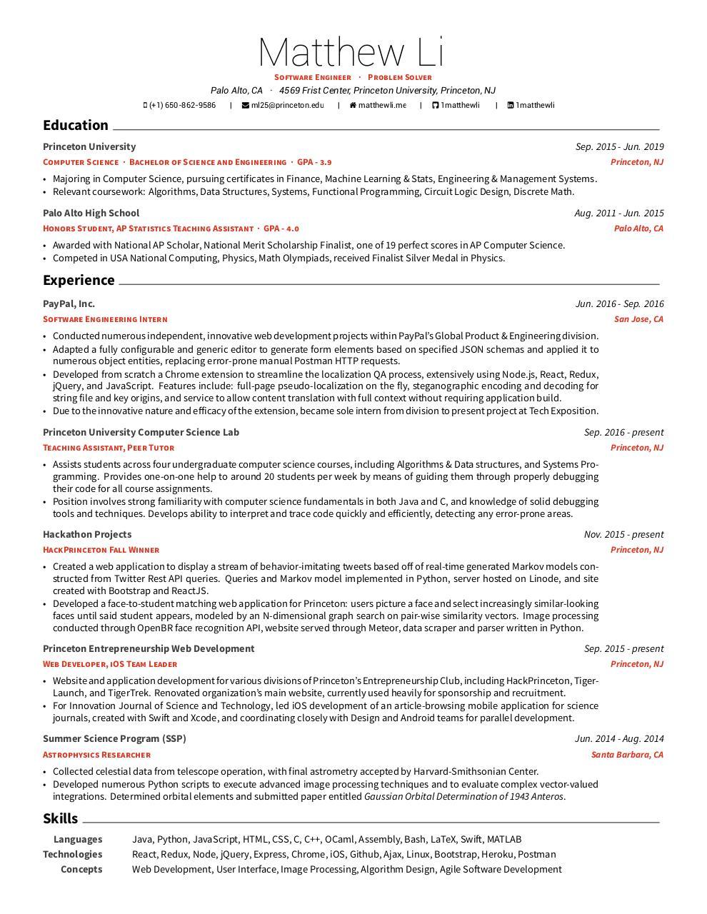 MatthewLi Resume - PDF Archive