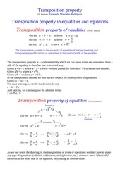 transposition property