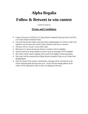 twitter contest crown